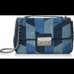 Michael Kors Shoulder Denim Chain Sloan Handbag